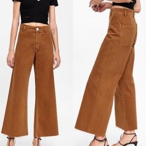 NWT ZARA WOMEN 'THE MARINE STRAIGHT' HI RISE PANTS